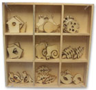 Crafts Too Wooden Elements Shapes - Garden