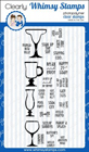 ###Whimsy Stamps - Bottoms Up - Clear Stamps