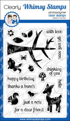 * Whimsy Stamps - Into the Woods - Clear Stamps