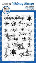 * XMAS* Whimsy Stamps - Snowflake Wishes - Clear Stamps