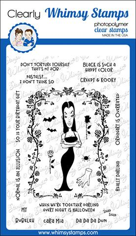 Whimsy Stamps - Morticia Clear Stamps