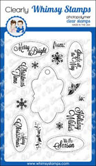 *xmas* Whimsy Stamps - Tag It! Christmas - Clear Stamps