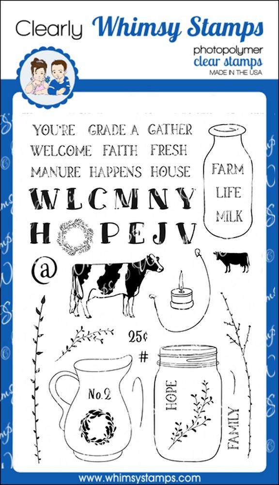 Whimsy Stamps - Farmhouse Vases