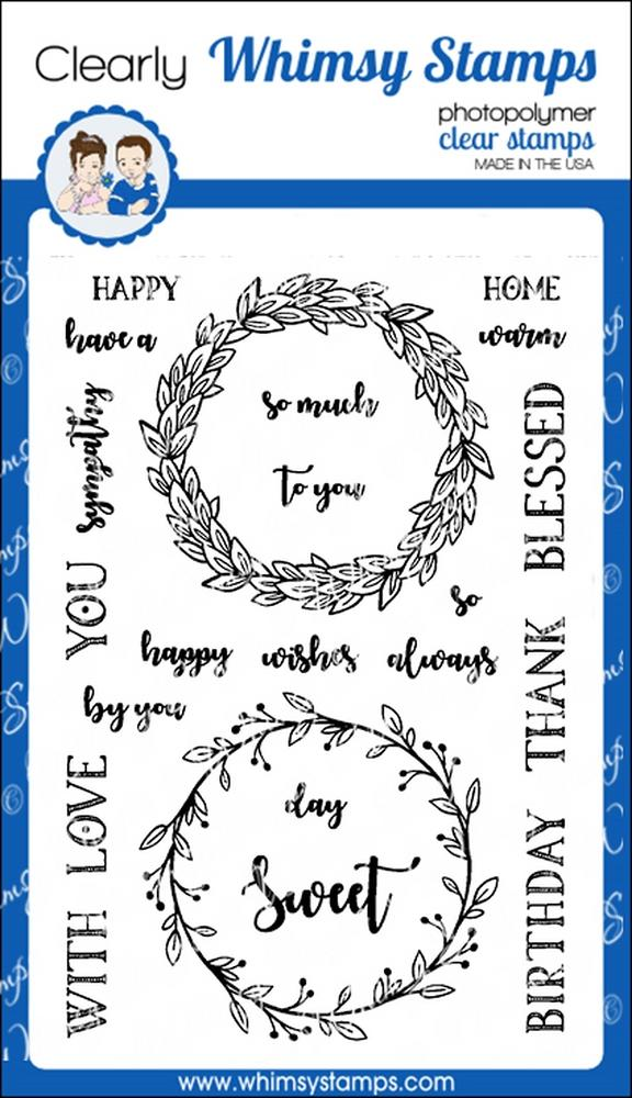 Whimsy Stamps - Farmhouse Wreaths