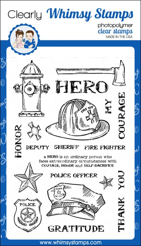 *NEW* - Whimsy Stamps - Heroes