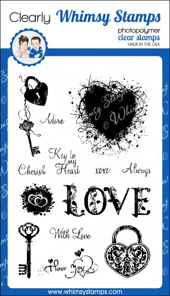 * Whimsy Stamps - Key to Love - Clear Stamps