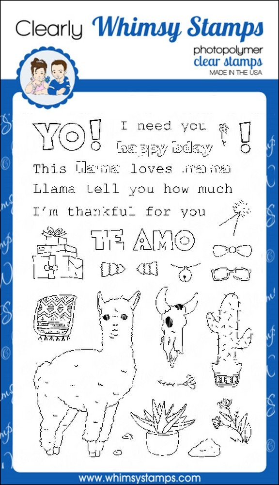 *NEW* - Whimsy Stamps - Llama Love