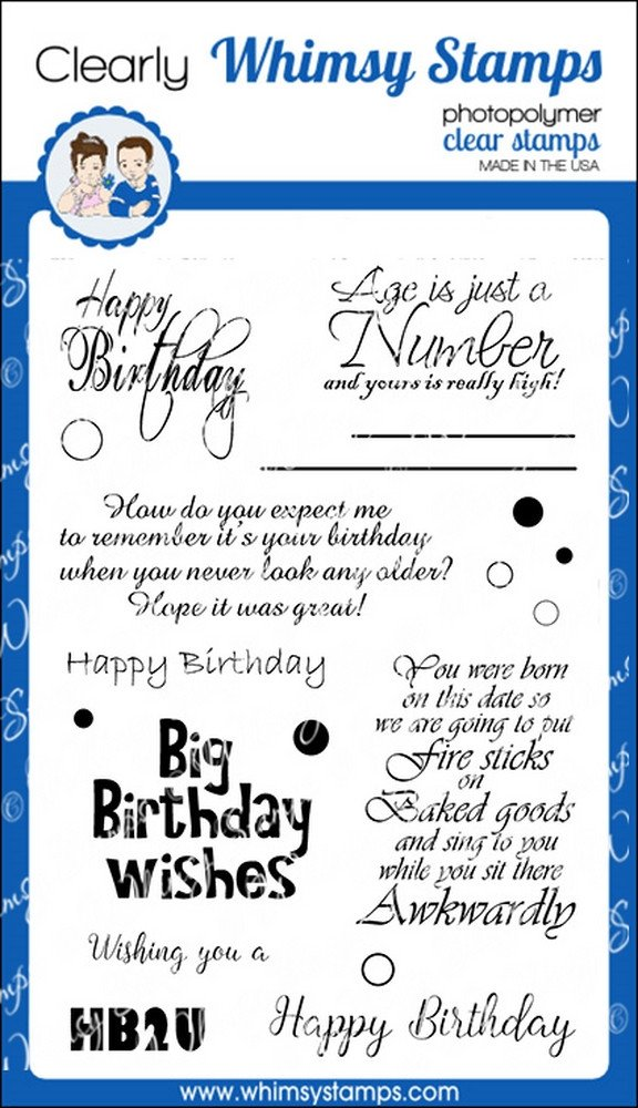 *NEW* - Whimsy Stamps - Happy Birthday to You