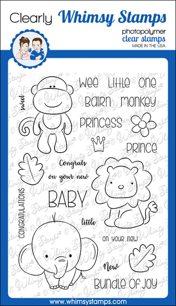 # Whimsy Stamps - Jungle Babies Clear Stamps