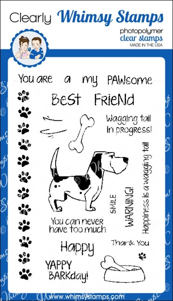 *NEW* - Whimsy Stamps - Caution Wagging Tail