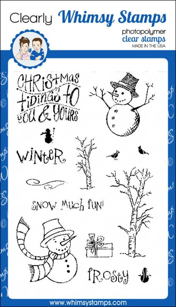 * XMAS* Whimsy Stamps - Snowman Tidings