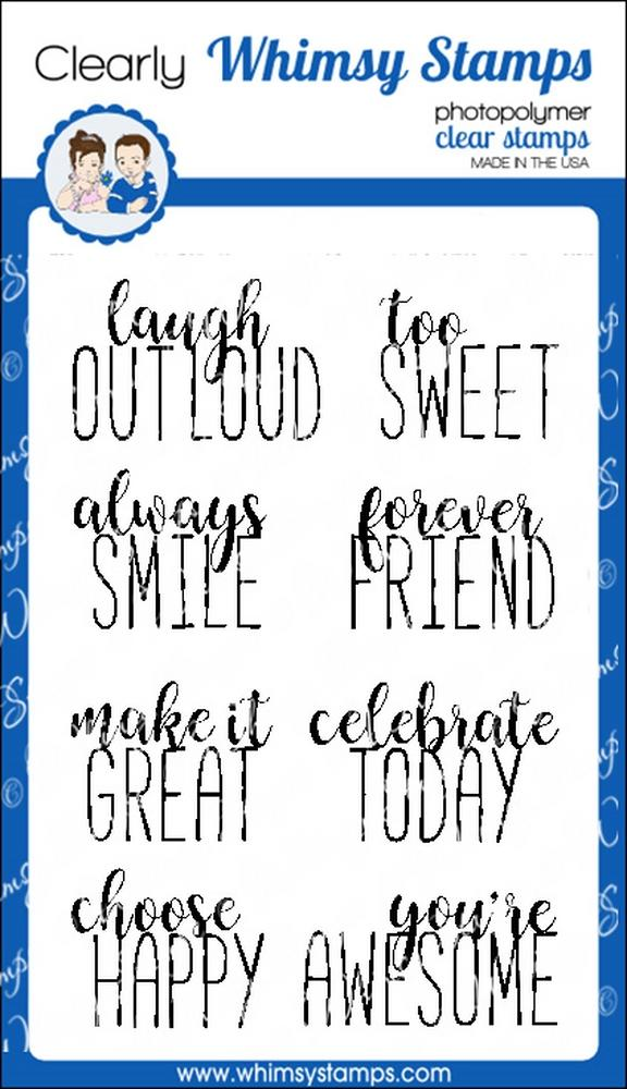 Whimsy Stamps - Happy Headlines