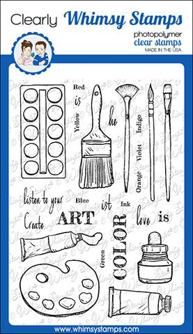 Whimsy Stamps - Artist Toolkit Clear Stamps