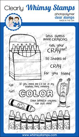 Whimsy Stamps - Crayons Clear Stamps
