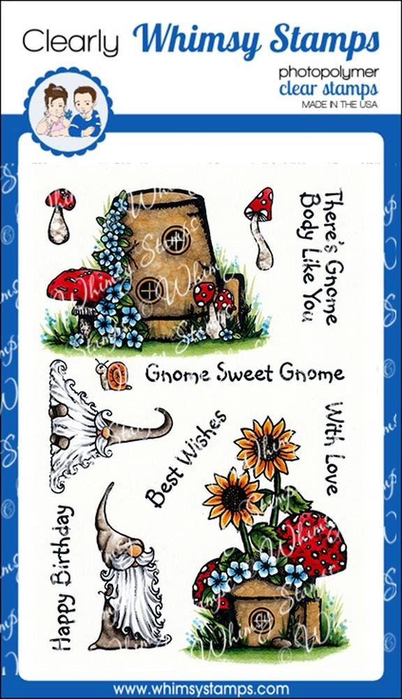 Whimsy Stamps - Gnome Sweet Gnome