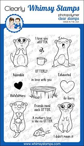 Whimsy Stamps - Adorable Otters Clear Stamps