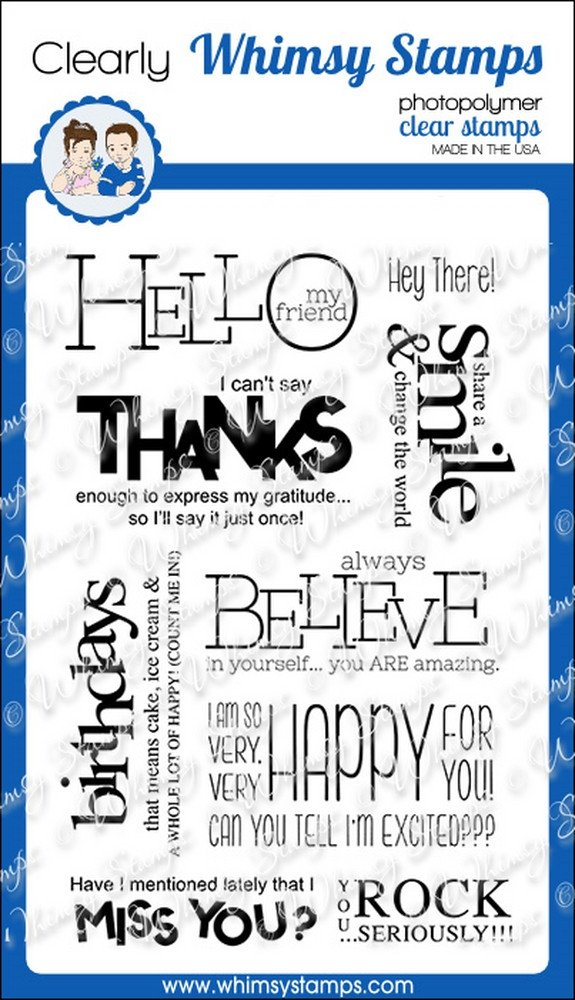 Whimsy Stamps - Bold Statements - Clear Stamps