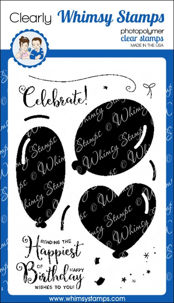 * Whimsy Stamps - Big Balloon Celebrations - Clear Stamps