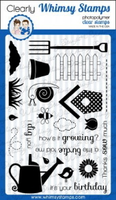 * Whimsy Stamps - In The Garden - Clear Stamps
