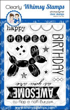 * Whimsy Stamps - Birthday Balloon - Clear Stamps