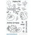 Your Next Stamp- Sandy Squirrel - Autumn Greetings