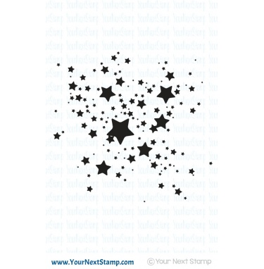 Your Next Stamp- Star Ink Splatter