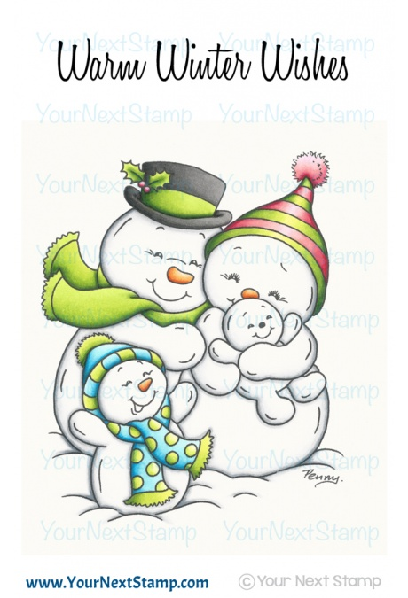 Your Next Stamp- Snowman Family