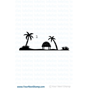 Your Next Stamp- Island Silhouette
