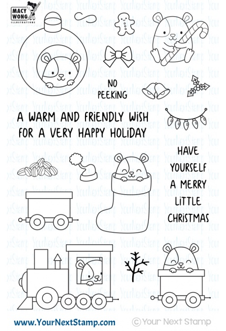 *PRE-ORDER* - Your Next Stamp - Hammie Holiday Fun