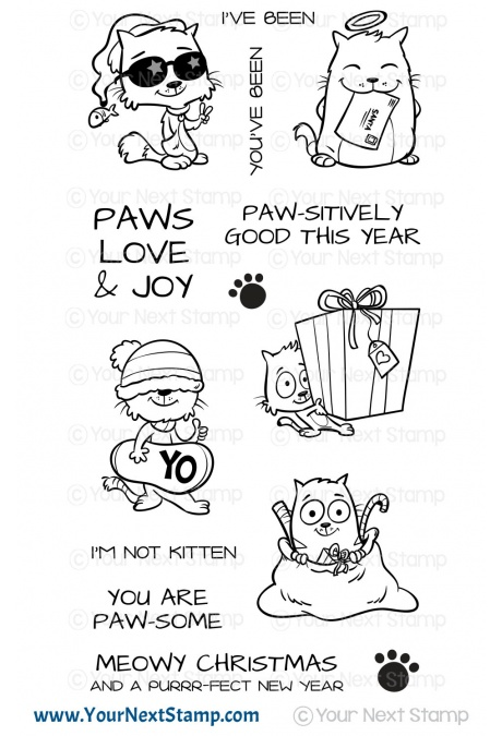 Your Next Stamp - Meowy Christmas