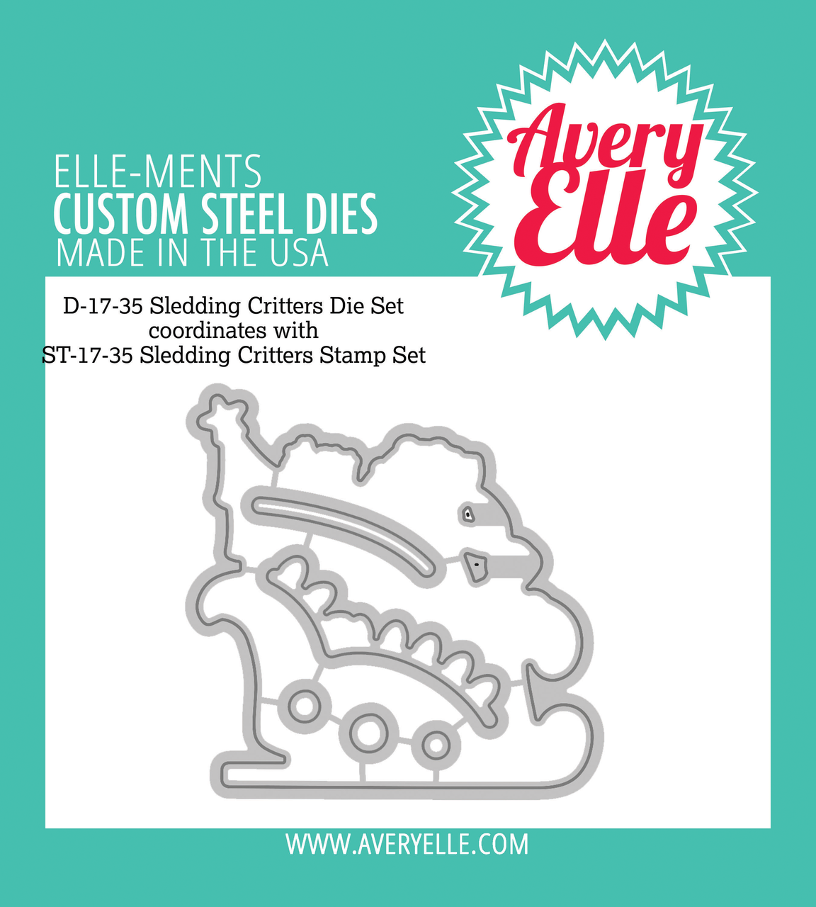 Avery Elle - Die: Sledding Critters Elle-ments