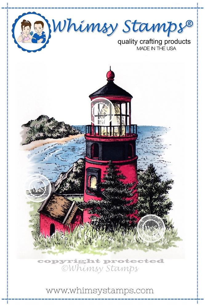 *NEW* - Whimsy Stamps - Hillside Lighthouse