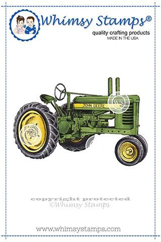 Whimsy Stamps - Farm Tractor Rubber Cling Stamp