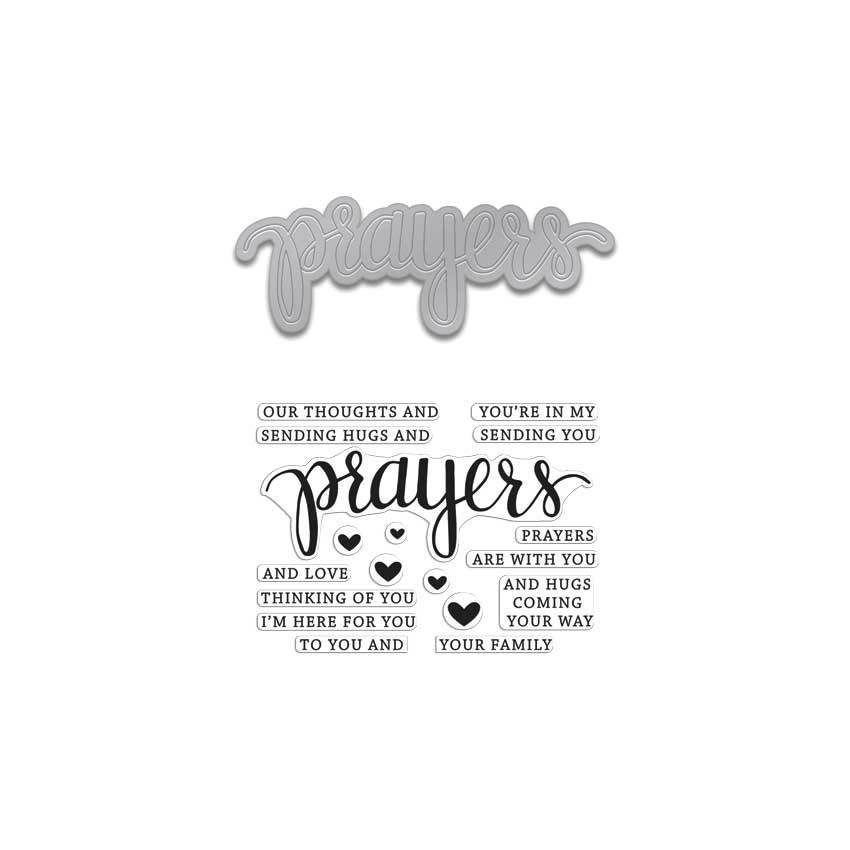 *NEW* - Hero Arts - Prayers Stamp & Cut