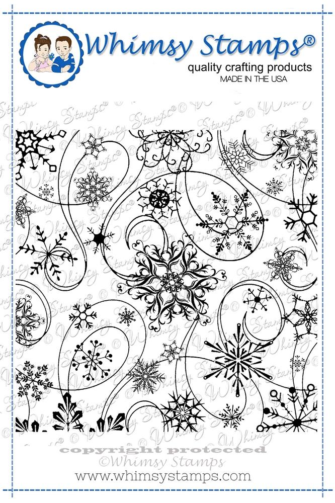 Whimsy Stamps - Snow Flurry Background