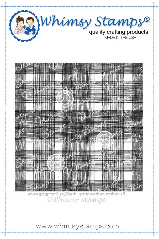 Whimsy Stamps - Buffalo Plaid Background Rubber Cling Stamp