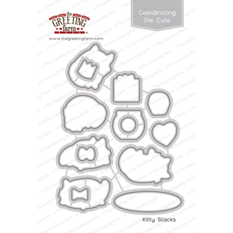 *NEW* - The Greeting Farm - Kitty Stacks - Die Cuts