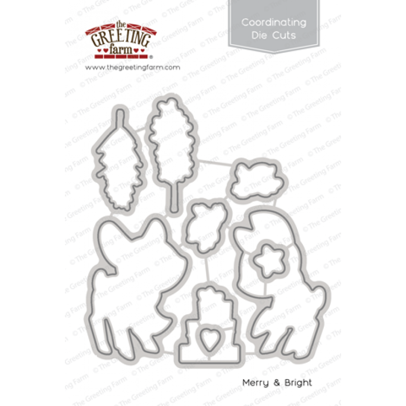 *NEW* -  The Greeting Farm - Merry & Bright - Die Cuts