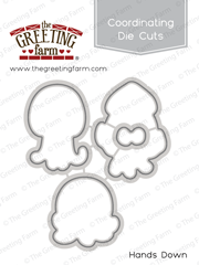 *NEW* -  The Greeting Farm - Hands Down - Die Cuts