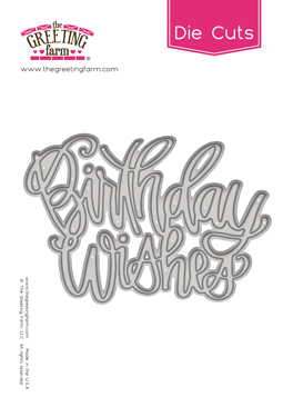 *NEW* -  The Greeting Farm - Birthday Wishes - Word Die Cuts
