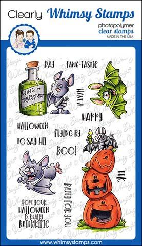 Whimsy Stamps - Going Batty Clear Stamps