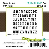 Die-versions - Font - A Hint of Mint