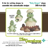 Die-Versions - Shapes - Baby Dragon