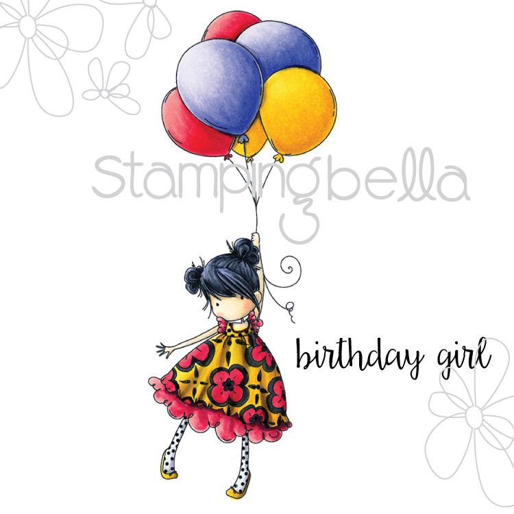 Stamping Bella - Tiny Townie Blossom loves Balloons