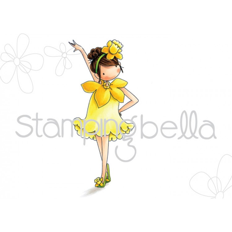 *NEW* - Stamping Bella - Tiny Townie Garden Girl Daffodil