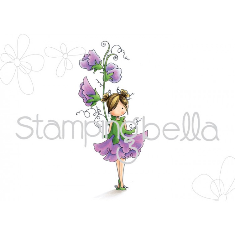 Stamping Bella - Tiny Townie Garden Girl Sweet Pea