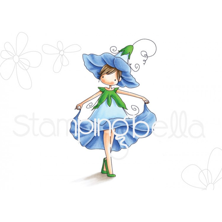 Stamping Bella - Tiny Townie garden girl, morning glory
