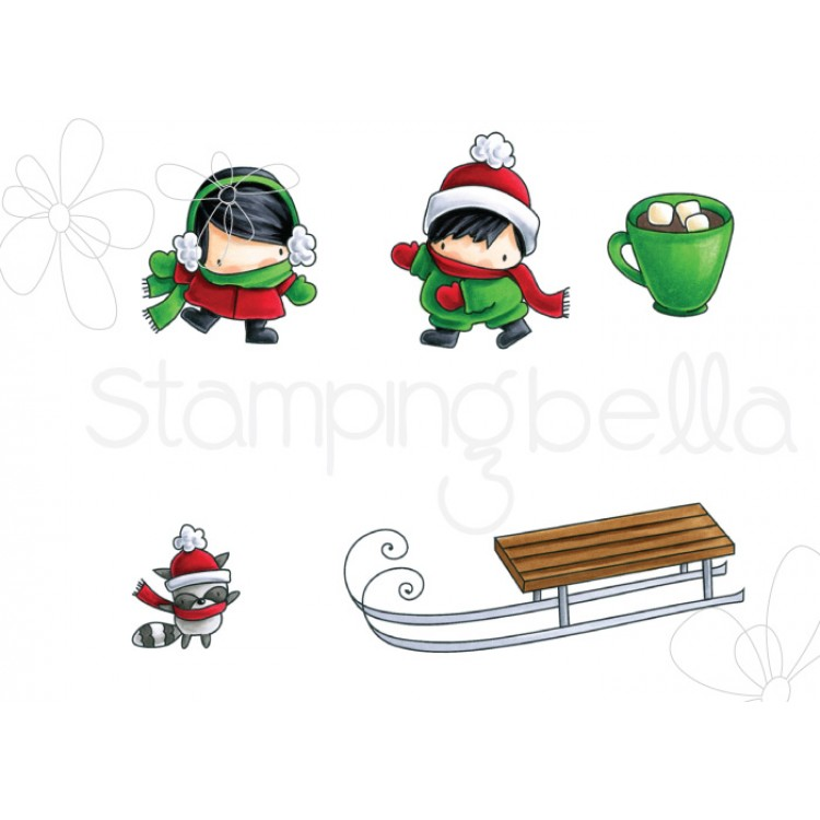 *XMAS* Stamping Bella - little BITS WINTER COLLECTION: SLEDDING