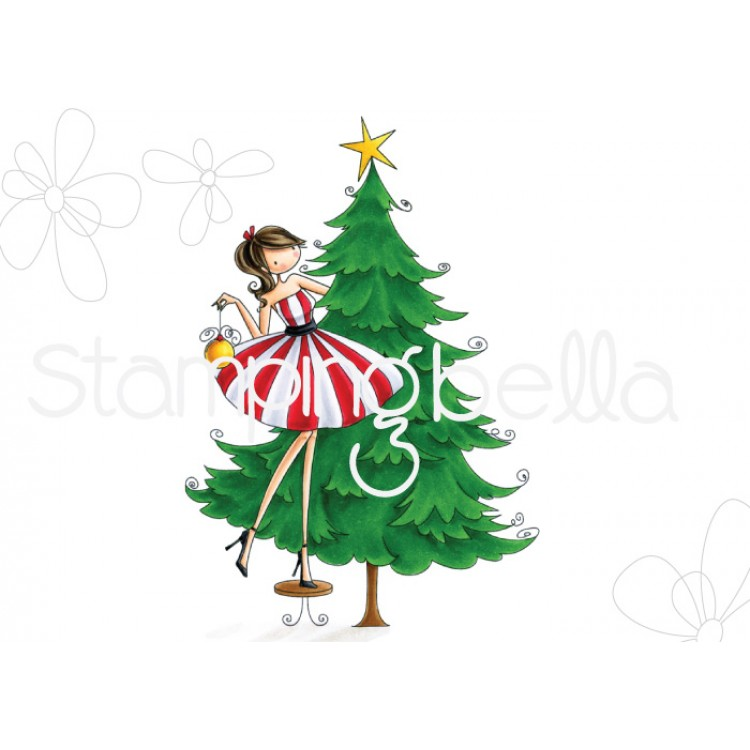 *PRE-ORDER* - Stamping Bella - Uptown girl TINA TRIMS THE TREE