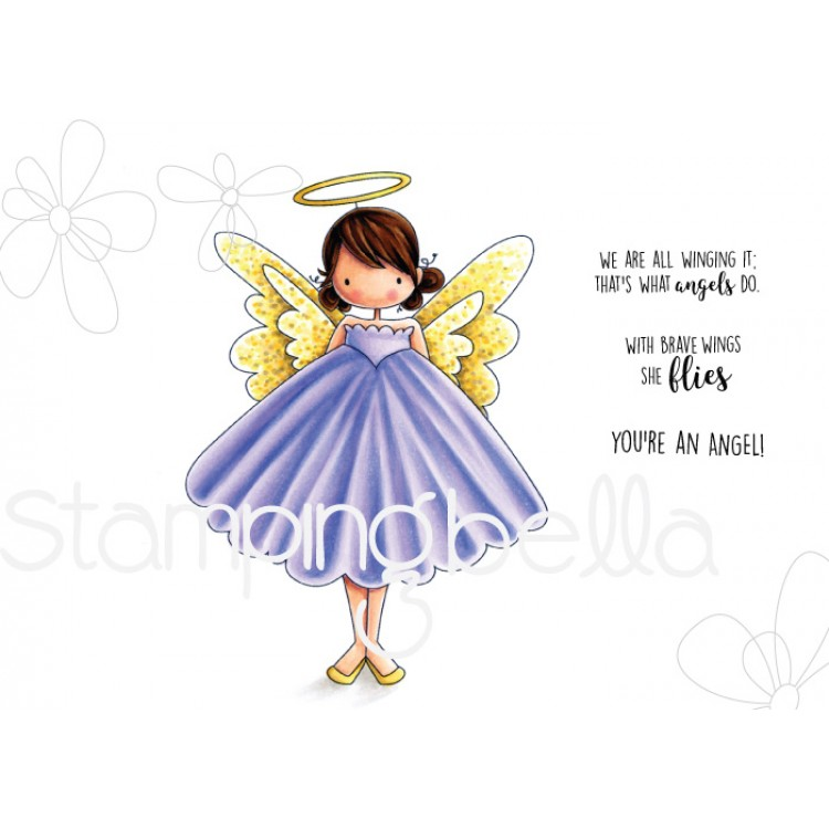 *PRE-ORDER* - Stamping Bella - Tiny Townie ANNIE is an ANGEL